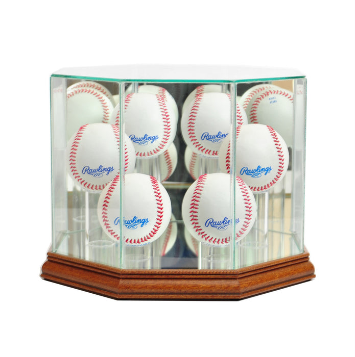 Six Baseball Display Case with Mirrors