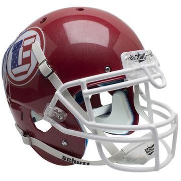 Utah Utes Authentic Schutt XP Full Size Helmet - Flag Decal