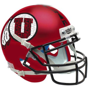 Utah Utes Authentic Schutt XP Full Size Helmet - Satin Red Black Mask