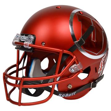Utah Utes Authentic Schutt XP Full Size Helmet - Satin Red Chrome Decal