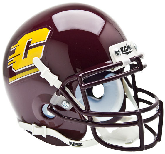 Central Michigan Chippewas Schutt XP Mini Helmet