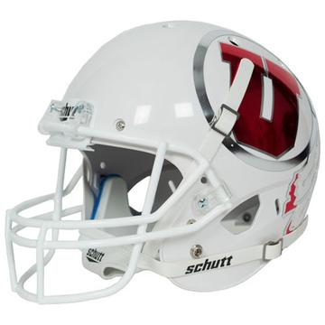 Utah Utes Authentic Schutt XP Full Size Helmet - White with Large Decal