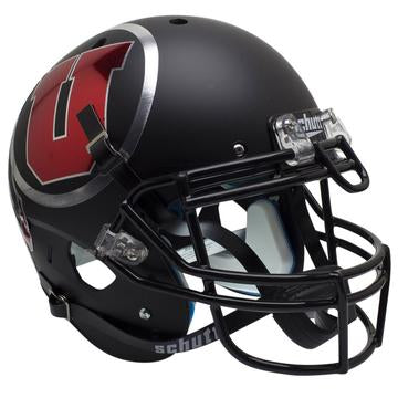Utah Utes Authentic Schutt XP Full Size Helmet - Chrome Decal