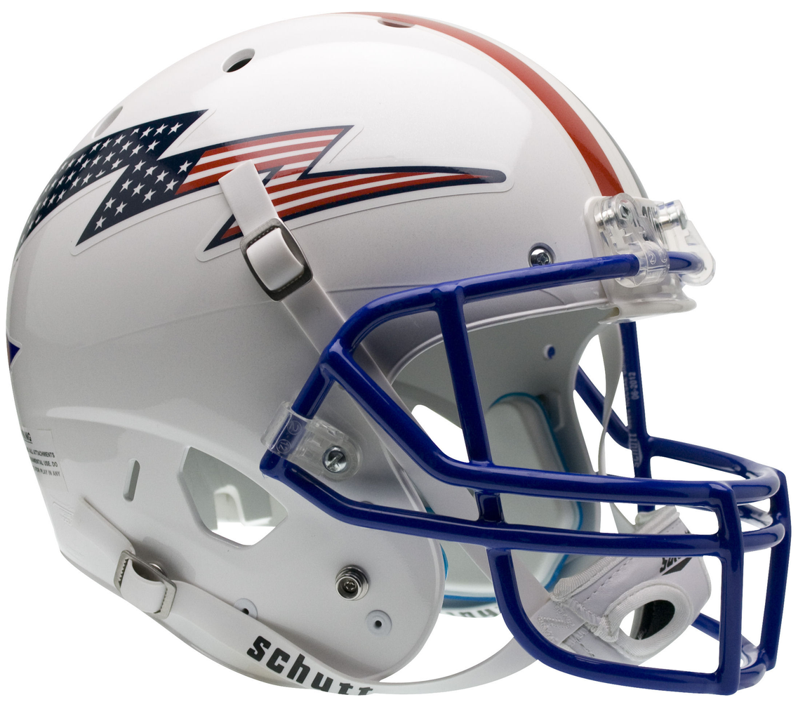 Air Force Falcons Replica Schutt XP Full Size Helmet - Flag Bolt w/ stripe