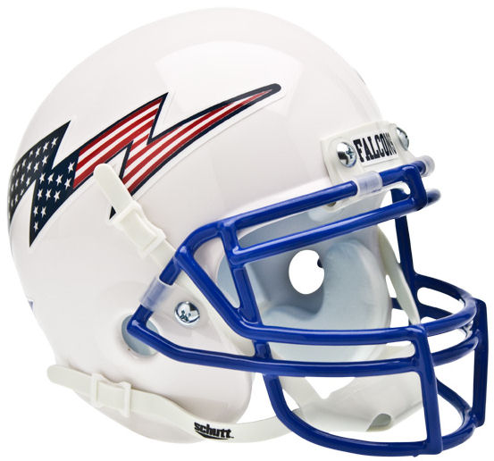 Air Force Falcons Schutt XP Mini Helmet - Flag Bolt