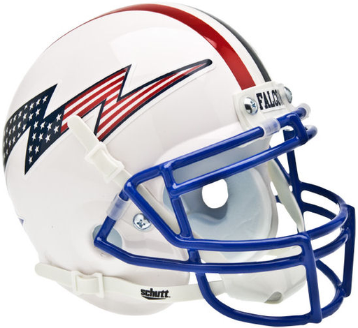 Air Force Falcons Schutt XP Mini Helmet - Flag Bolt with Stripe