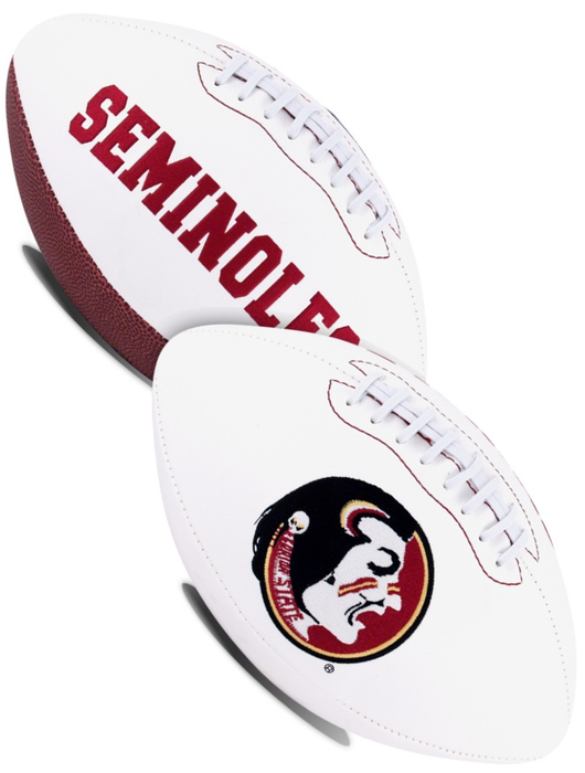 Florida State Seminoles NCAA White Panel Football