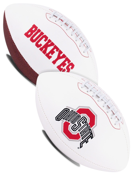 Ohio State Buckeyes NCAA White Panel Football