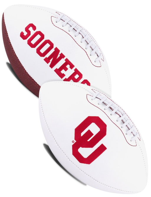 Oklahoma Sooners NCAA White Panel Football