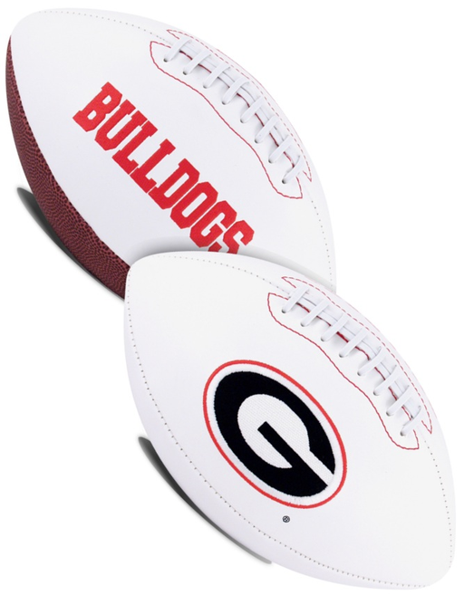 Georgia Bulldogs NCAA White Panel Football