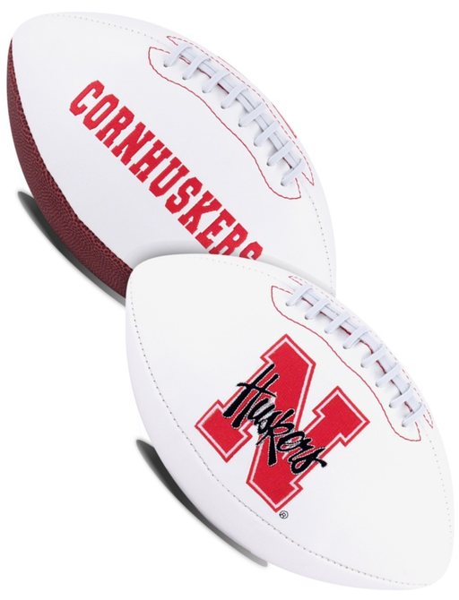 Nebraska Cornhuskers NCAA White Panel Football