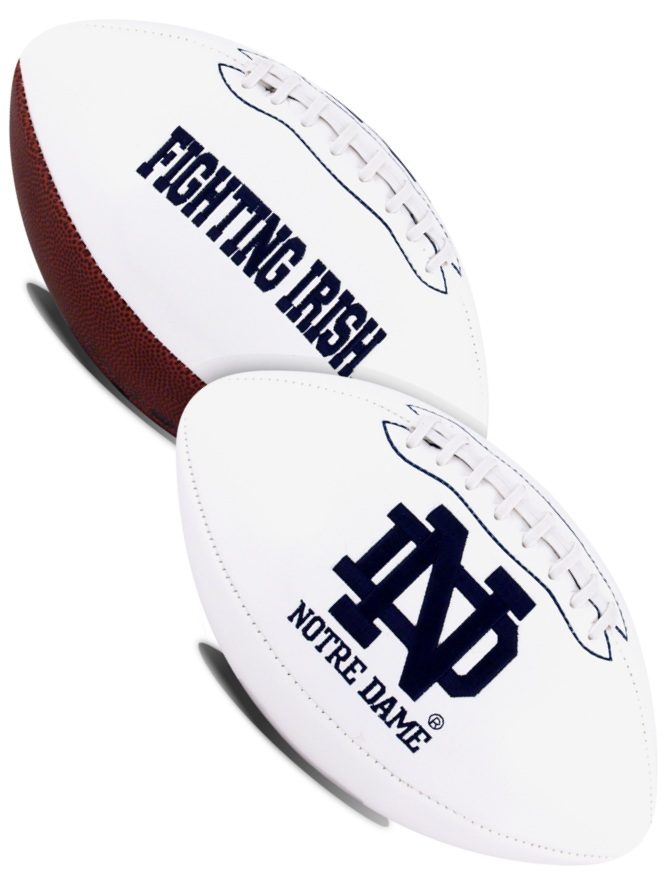 Notre Dame Fighting Irish NCAA White Panel Football