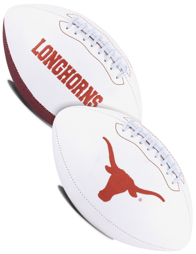 Texas Longhorns NCAA White Panel Football
