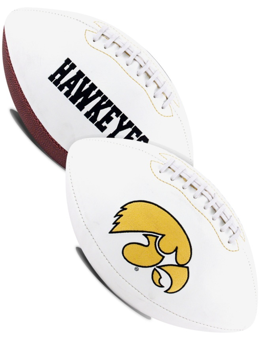 Iowa Hawkeyes NCAA White Panel Football