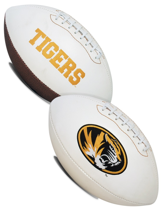 Missouri Tigers NCAA White Panel Football