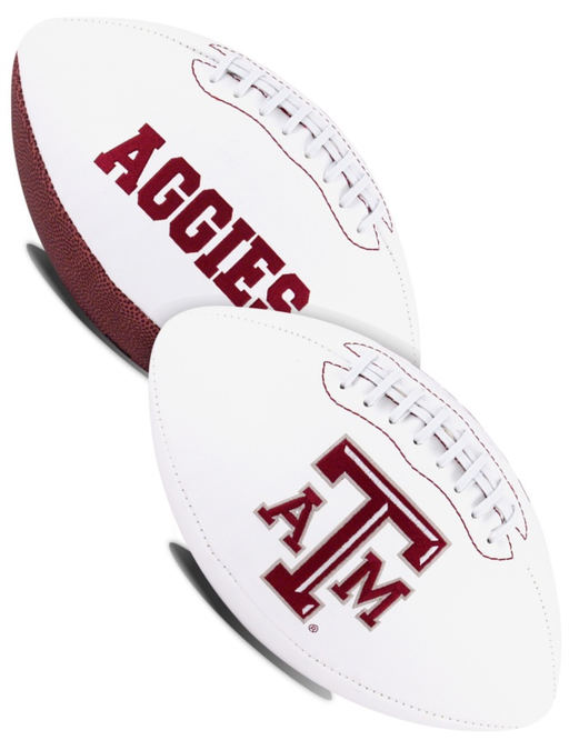 Texas A&M Aggies NCAA White Panel Football