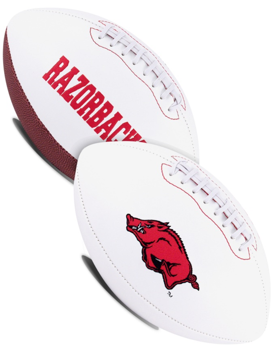 Arkansas Razorbacks NCAA White Panel Football