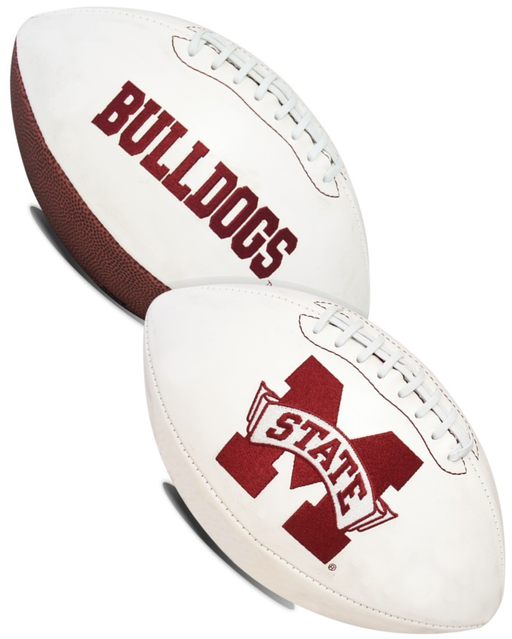 Mississippi State Bulldogs NCAA White Panel Football