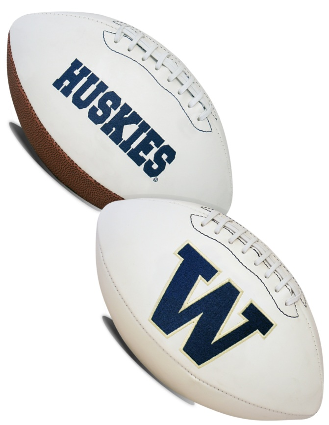 Washington Huskies NCAA White Panel Football