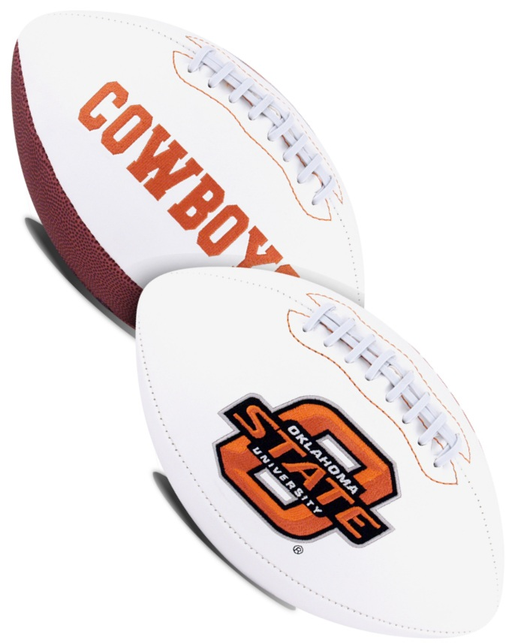 Oklahoma State Cowboys NCAA White Panel Football
