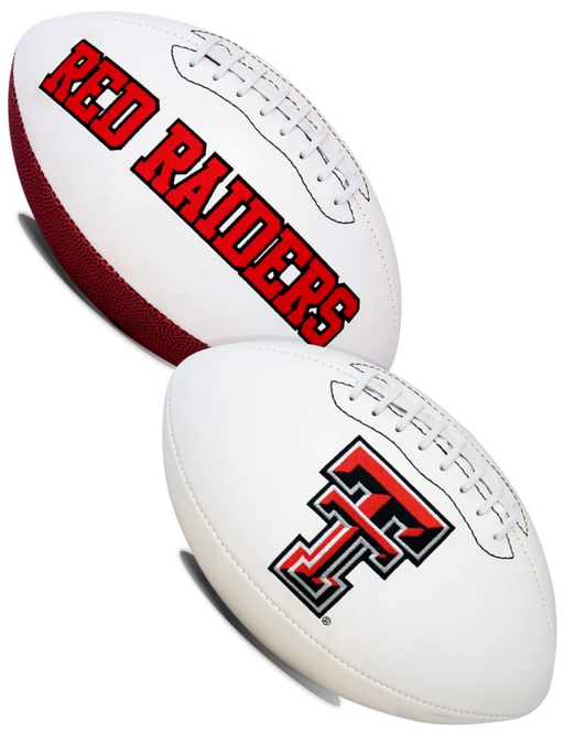 Texas Tech Red Raiders NCAA White Panel Football