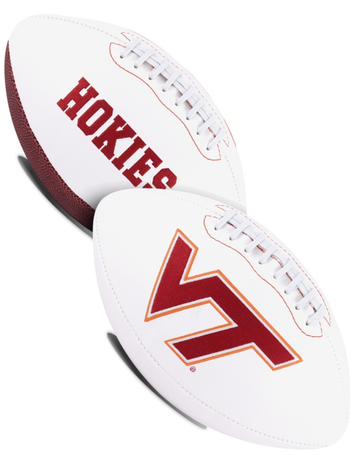 Virginia Tech Hokies NCAA White Panel Football
