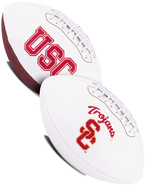 USC Trojans NCAA White Panel Football