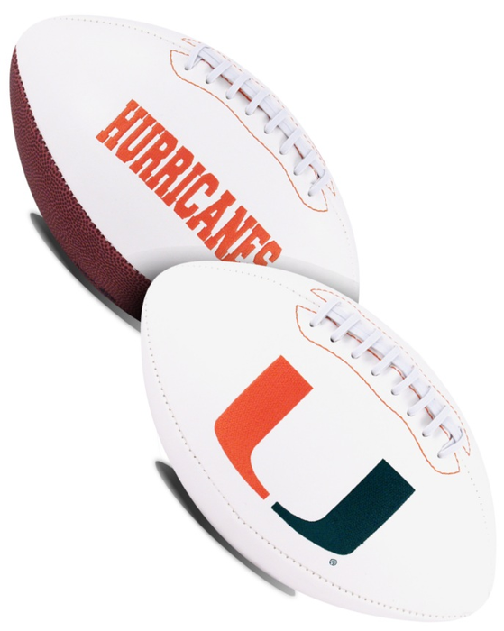 Miami Hurricanes NCAA White Panel Football