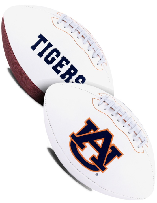 Auburn Tigers NCAA White Panel Football