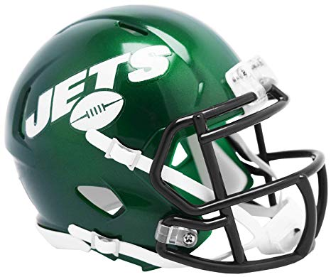 New York Jets Riddell Mini Speed Helmet - 2019