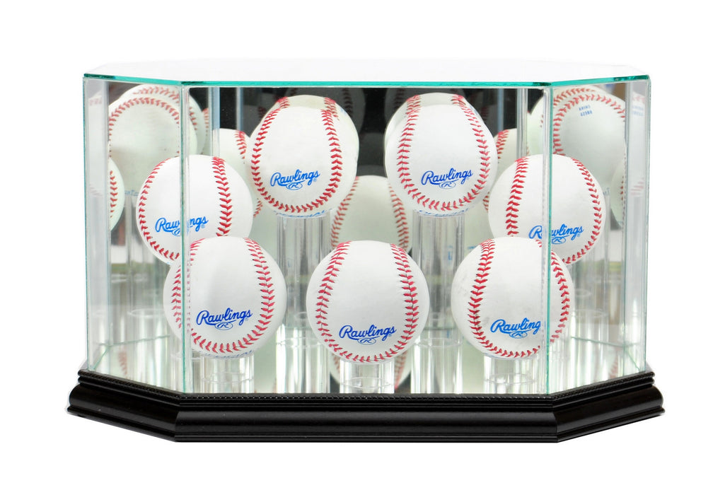 Seven Baseball Display Case with Mirrors