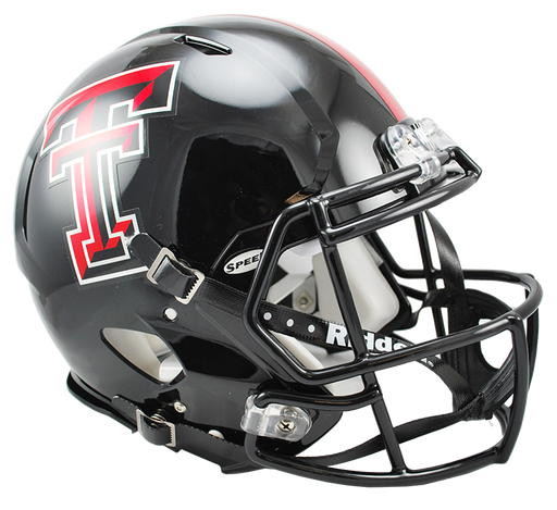 Texas Tech Red Raiders Authentic Full Size Speed Helmet - Chrome Decal