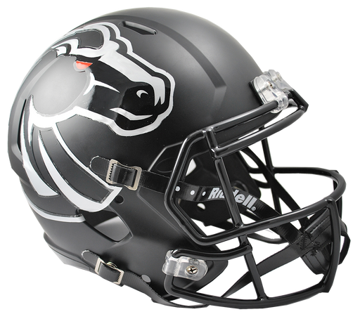 Boise State Broncos Replica Full Size Speed Helmet - Matte Black