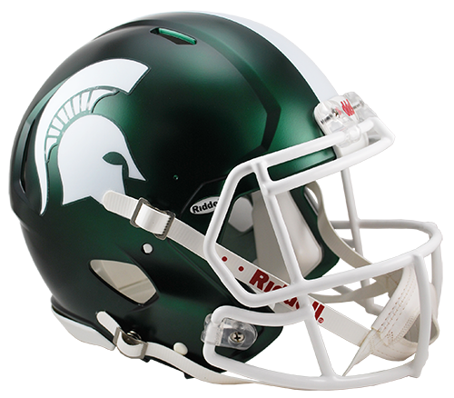 Michigan State Spartans Authentic Full Size Speed Helmet - Satin Green