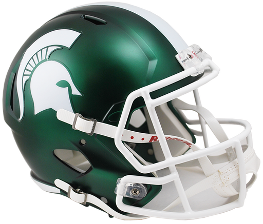 Michigan State Spartans Replica Full Size Speed Helmet - Satin Green
