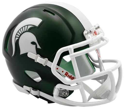 Michigan State Spartans Riddell Mini Speed Helmet - Satin Green