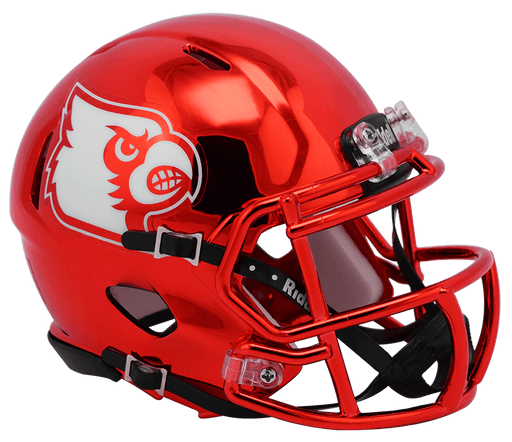 Louisville Cardinals Riddell Mini Speed Helmet - 2018 Chrome
