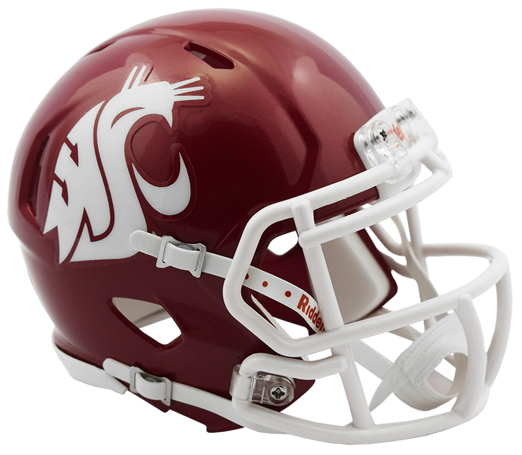 Washington State Cougars Riddell Mini Speed Helmet - 2016 Crimson