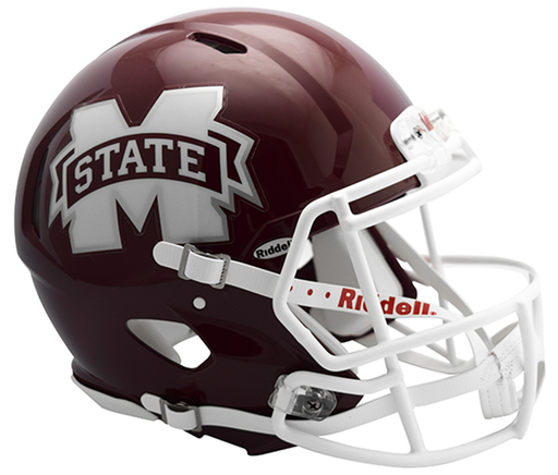 Mississippi State Bulldogs Authentic Full Size Speed Helmet - M State