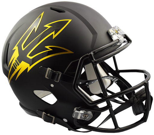 Arizona State Sun Devils Replica Full Size Speed Helmet - Satin Black