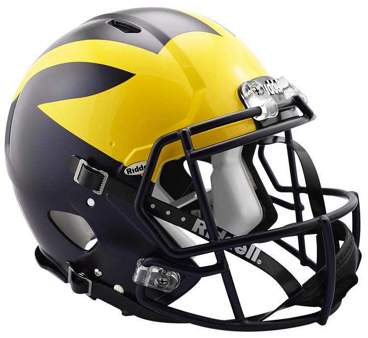 Michigan Wolverines Authentic Full Size Speed Helmet - 2016 Painted Wings