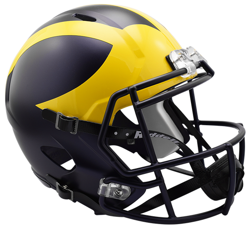 Michigan Wolverines Replica Full Size Speed Helmet - 2016 Painted Matte