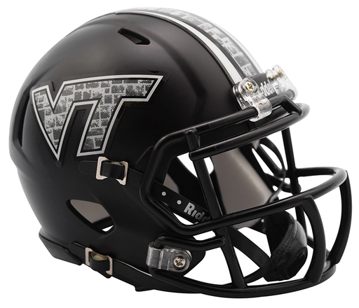 Virginia Tech Hokies Riddell Mini Speed Helmet - Matte Black