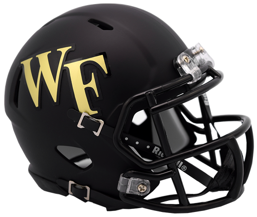 Wake Forest Demon Deacons Riddell Mini Speed Helmet - Matte Black