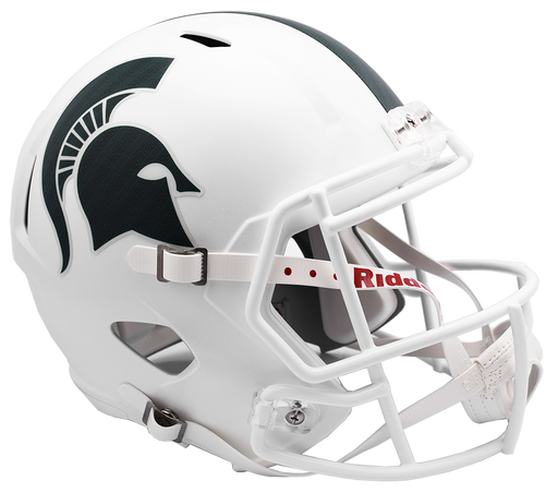 Michigan State Spartans Authentic Full Size Speed Helmet - Metallic Matte White 17