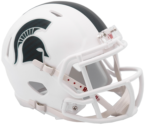 Michigan State Spartans Riddell Mini Speed Helmet - Matte White 2017 Alt