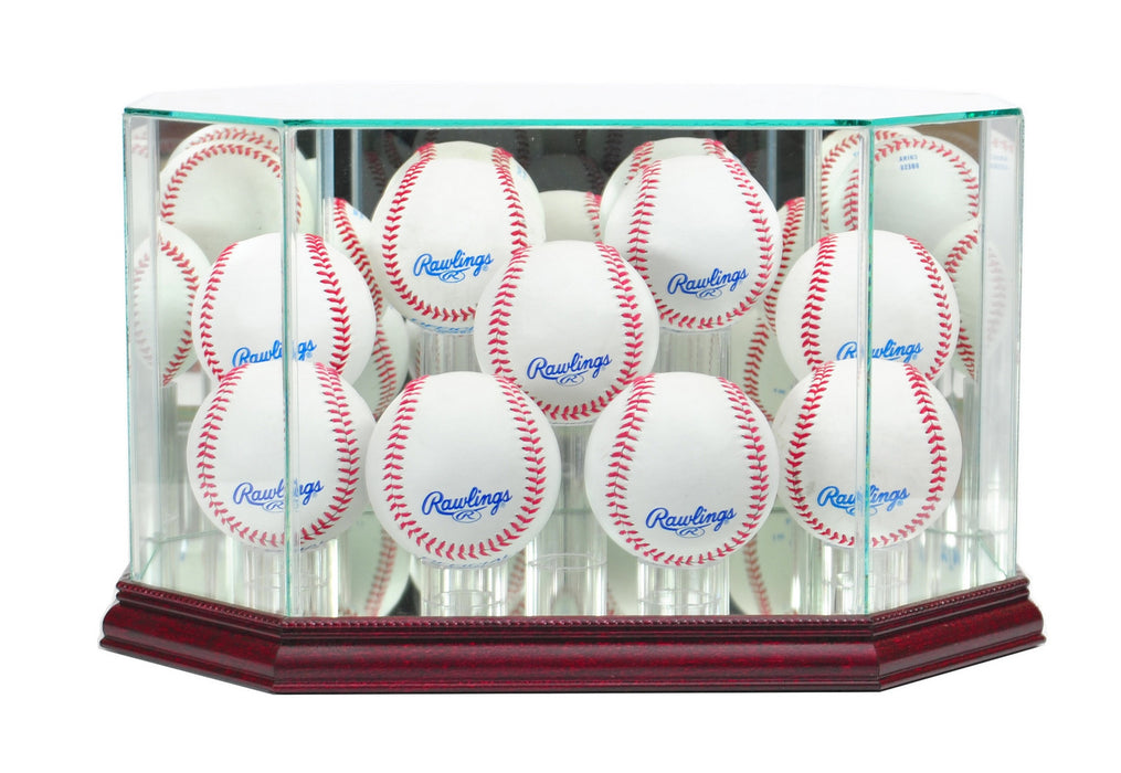 Nine Baseball Display Case with Mirrors