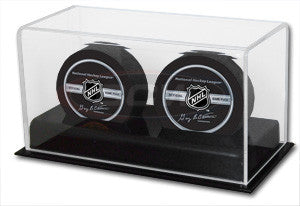 BCW Deluxe Acrylic Double Hockey Puck Display Case