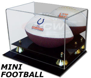 BCW Deluxe Acylic Mini Football Display Case with Mirrored Back