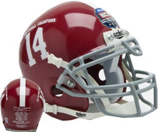 Alabama Crimson Tide 2011 National Champs Schutt XP Mini Helmet